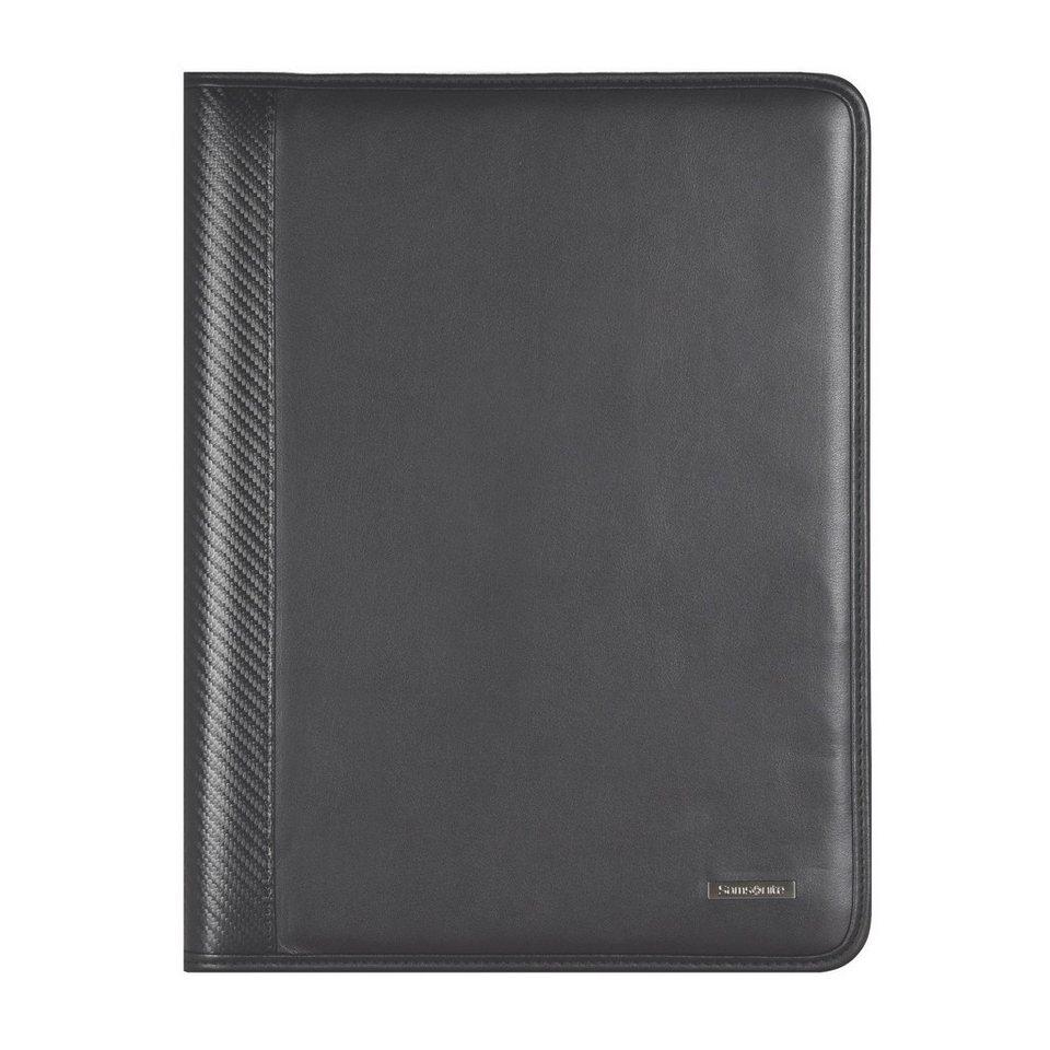 Samsonite Stationery S-Derry Schreibmappe Leder 28 cm in black