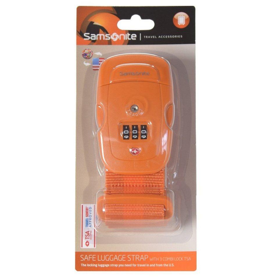 Samsonite Samsonite Travel Accessories Kofferband TSA-Zahlenschloss in orange