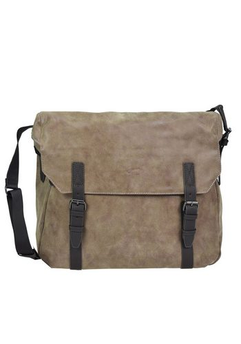 Damen camel active Cambridge Umhängetasche 39 cm Laptopfach braun | 04250339274917