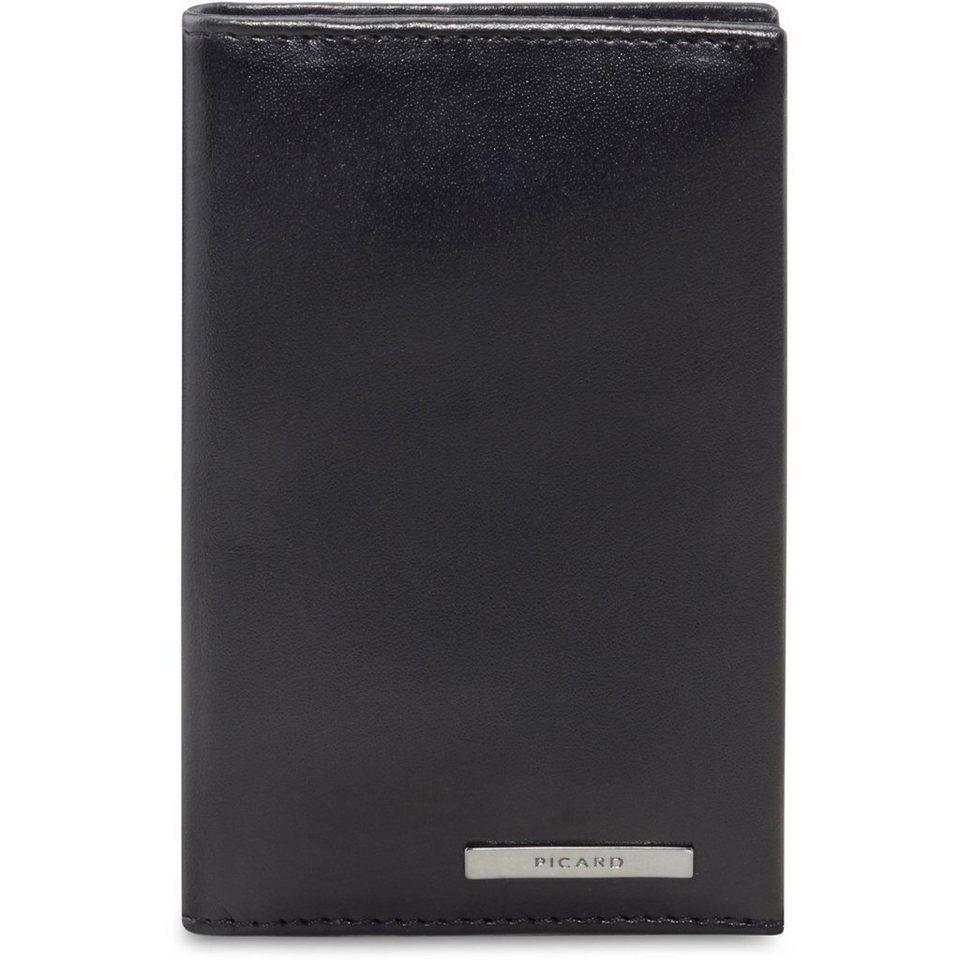 Picard Safety Geldbörse Leder 7 cm in schwarz
