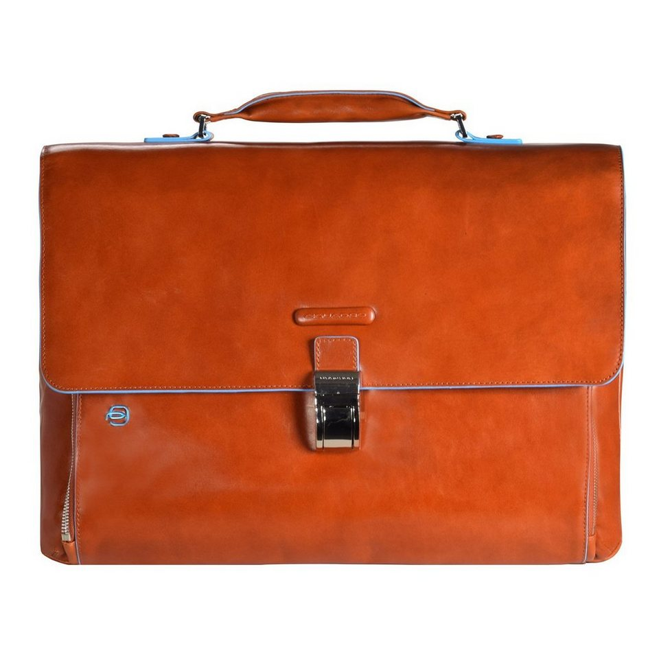 Piquadro Piquadro Blue Square Aktentasche Leder 40 cm Laptopfach in orange