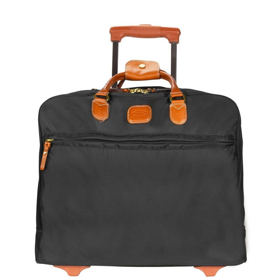 Bric's X-Travel Pilotentrolley 36 cm Laptopfach in schwarz/braun