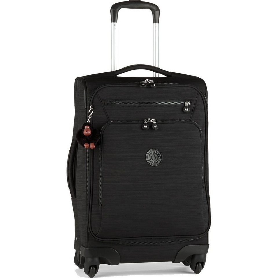KIPLING Block Print Travel 4-Rollen Trolley Youri Spin 55 cm in dazz black