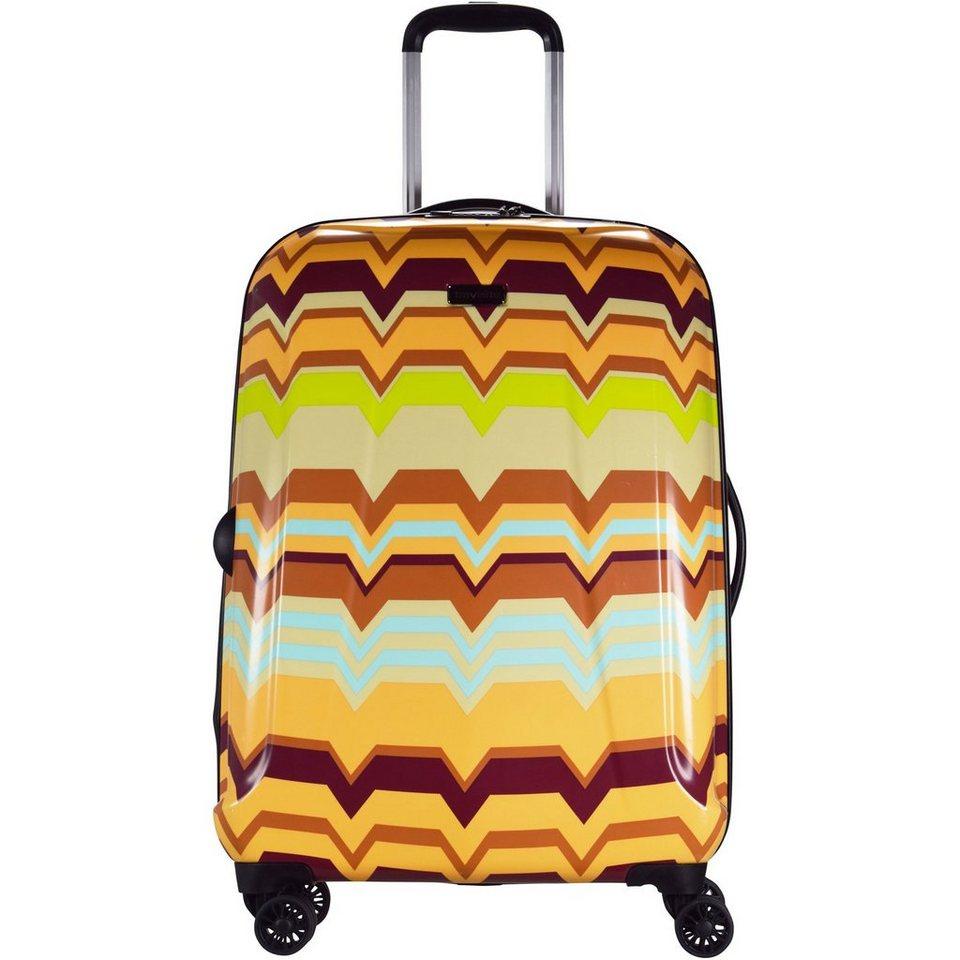 travelite Travelite Graphix 4-Rollen Trolley 66 cm in gelb