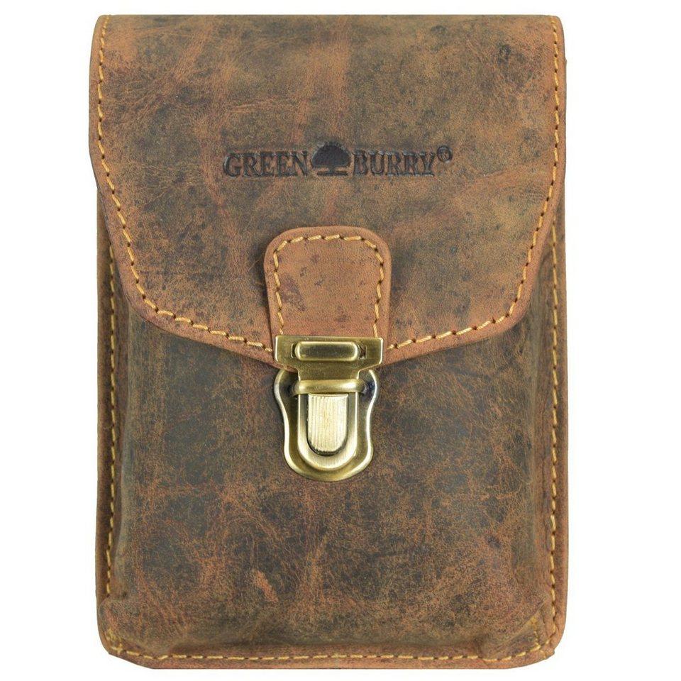 Greenburry Vintage Gürteltasche Leder 11 cm in brown