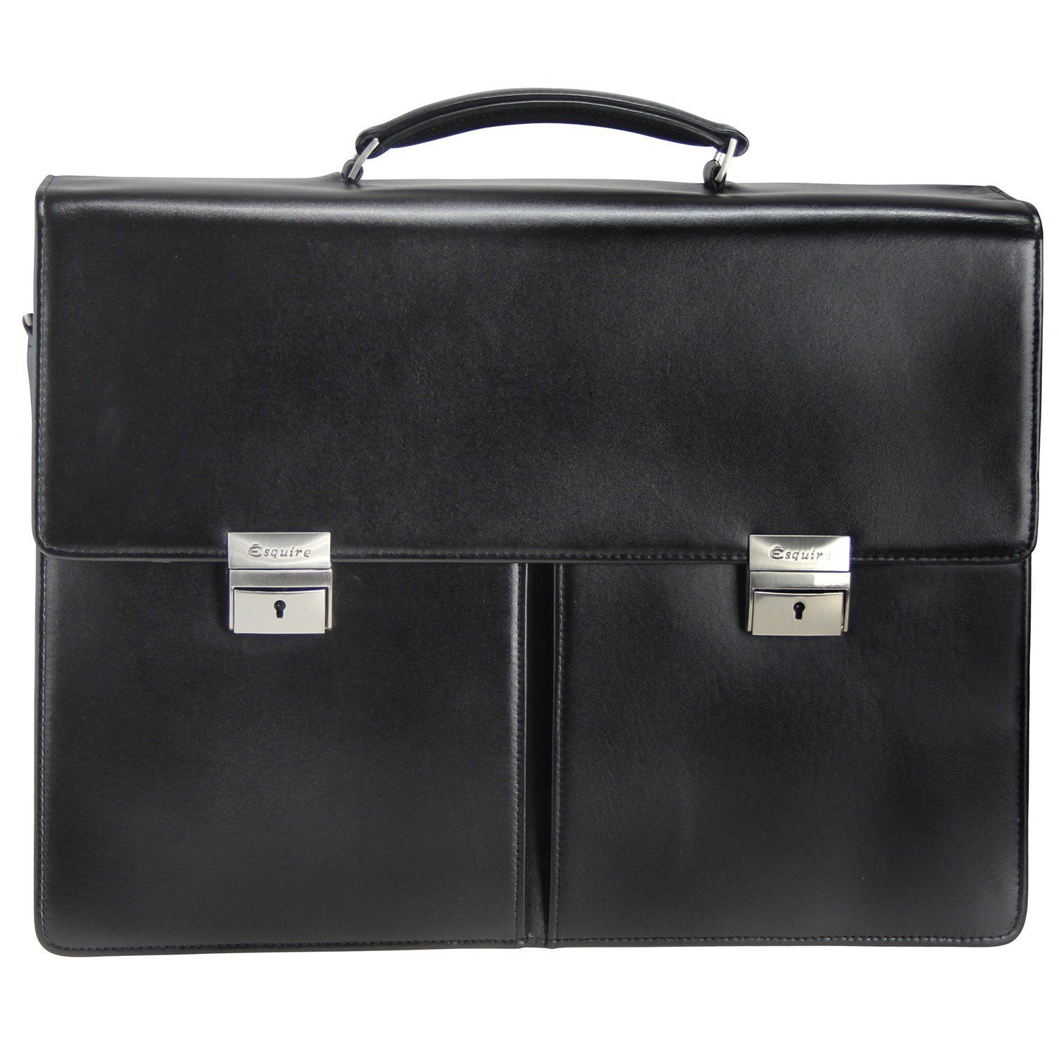 Esquire Business Aktentasche Leder 41 cm Laptopfach