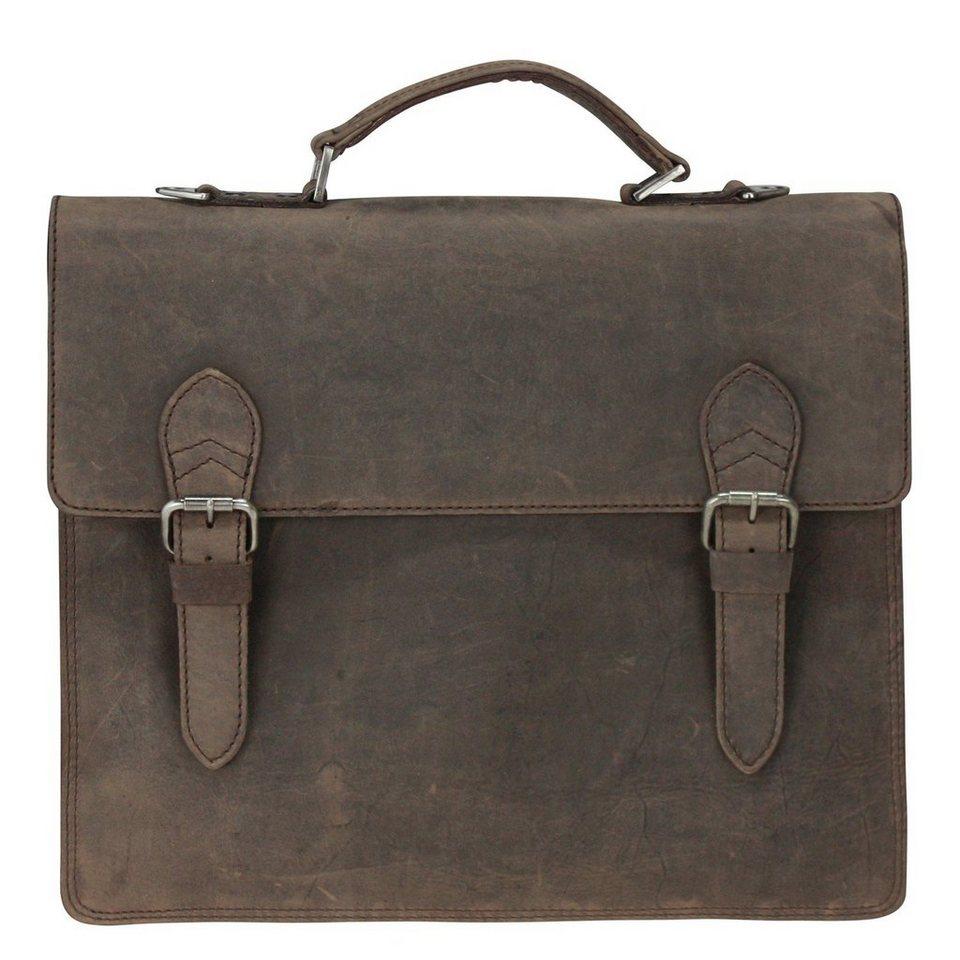 Harold's Eastend Aktentasche Leder 39 cm Laptopfach in braun