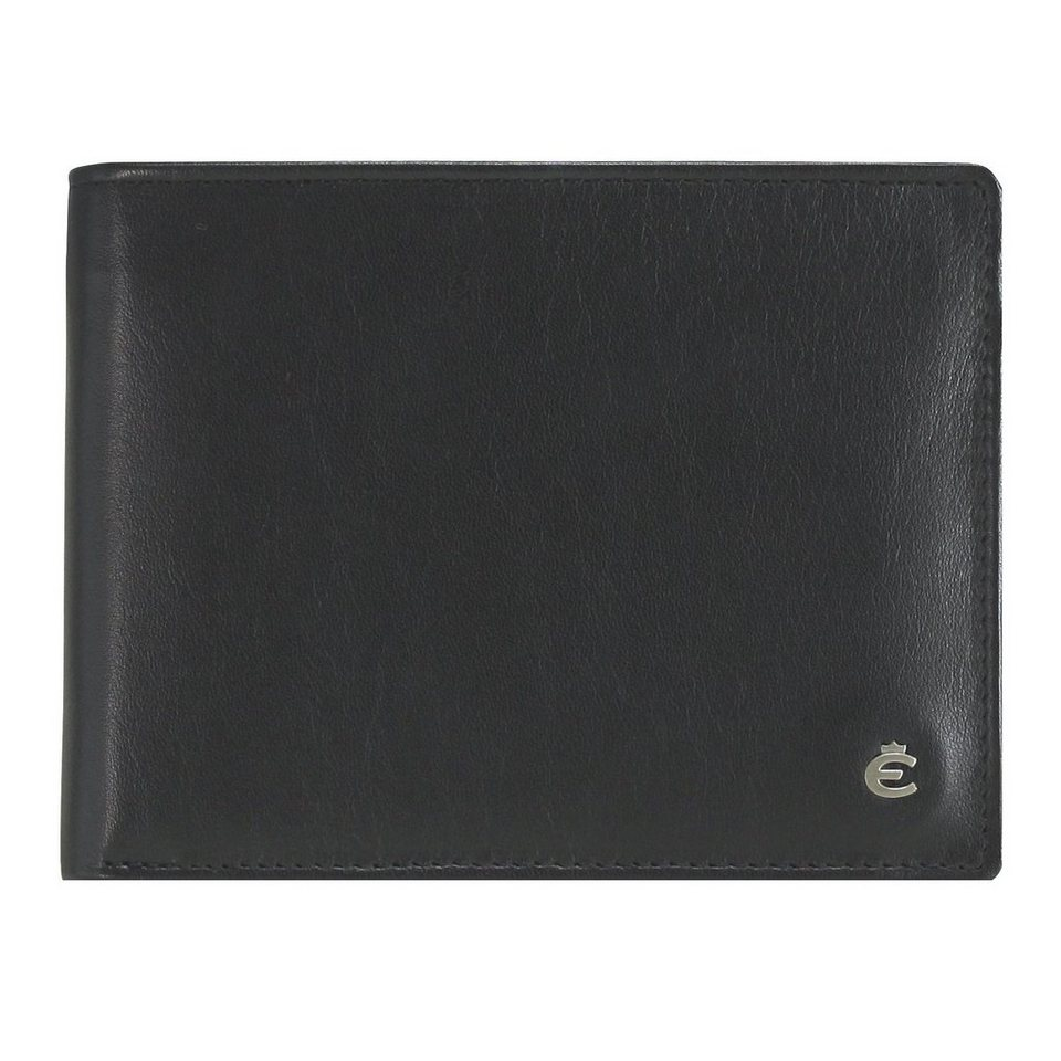 Esquire Harry Geldbörse Leder 12 cm in schwarz