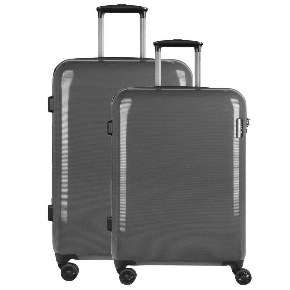 d & n d&n Travel Line 8200 4-Rollen Trolley-Set 2-tlg. in grau