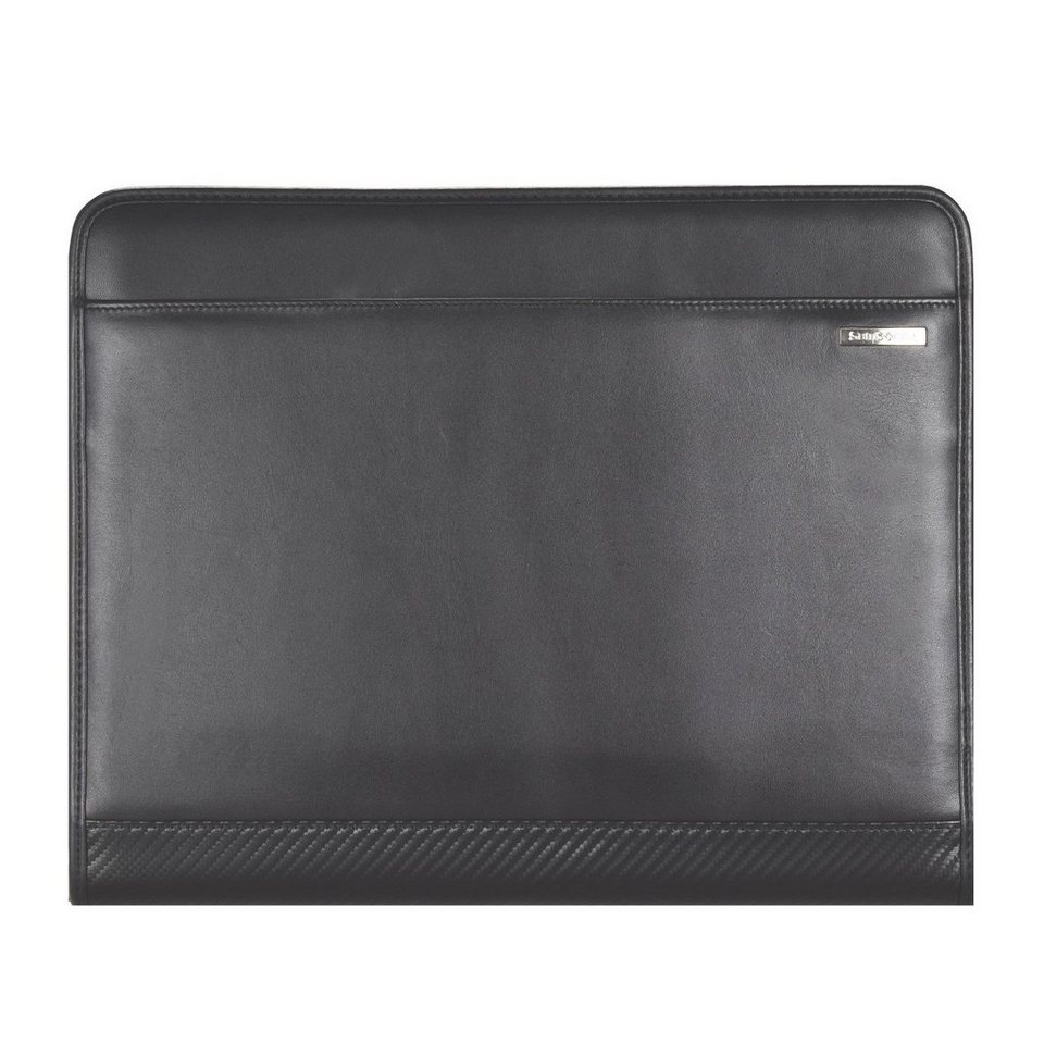 Samsonite Stationery S-Derry Schreibmappe Leder 29 cm in black