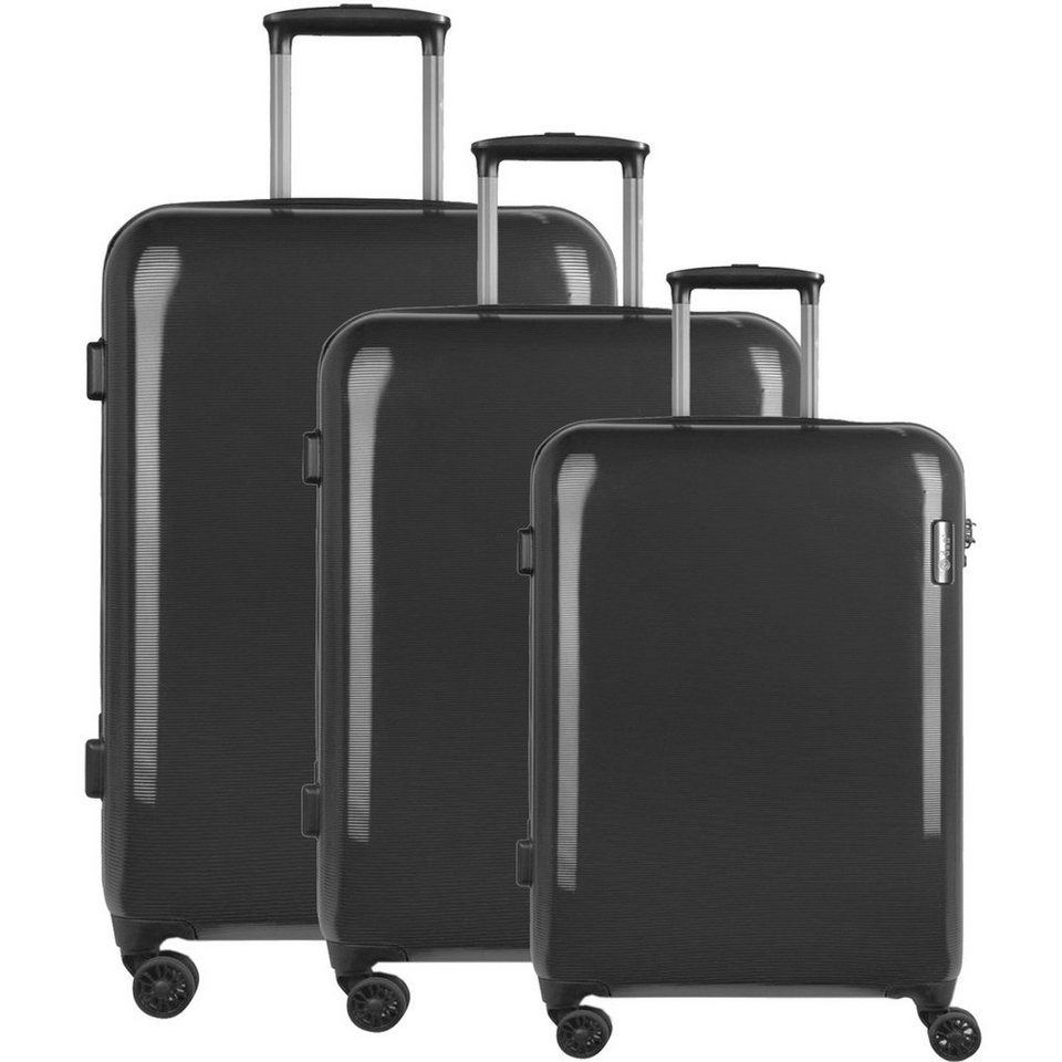 d & n d&n Travel Line 8200 4-Rollen Trolley-Set 3-tlg. in schwarz