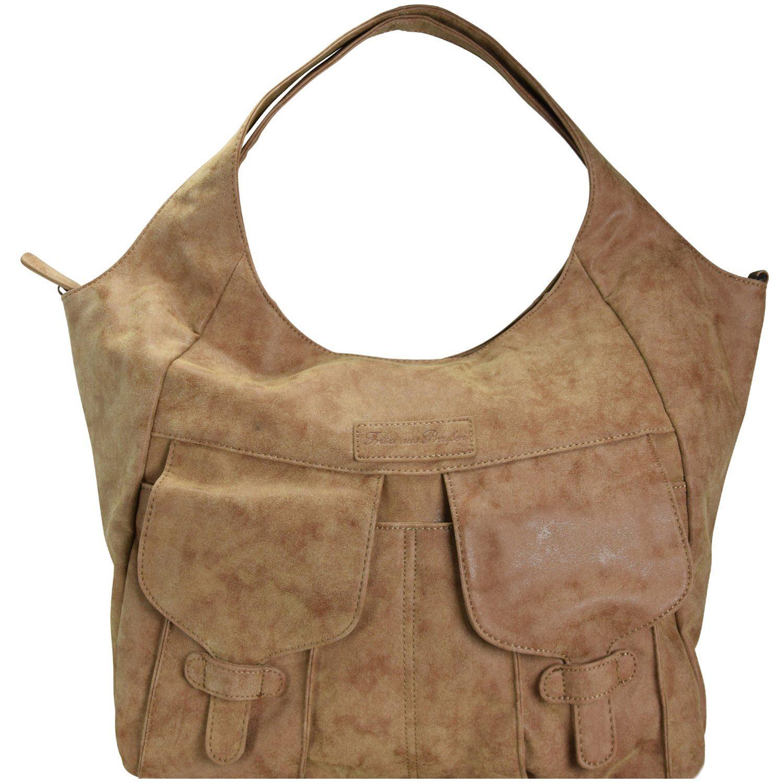 Fritzi aus Preußen Bags Jenna Vintage Schultertasche 50 cm