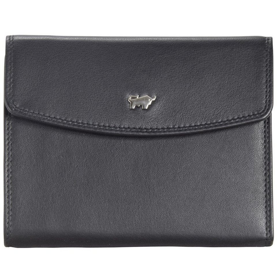 Braun Büffel Golf Geldbörse IX Leder 10,5 cm in schwarz