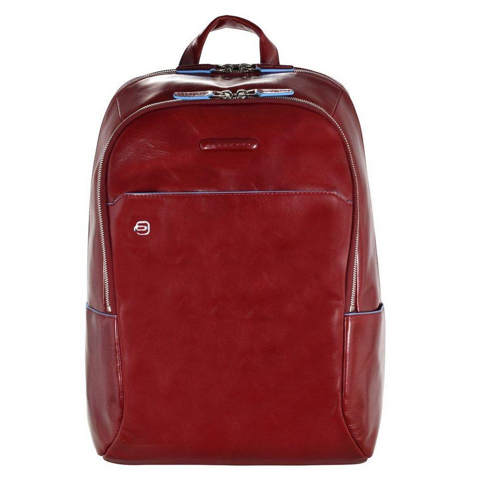 Piquadro Blue Square Rucksack Leder 39 cm Laptopfach in red
