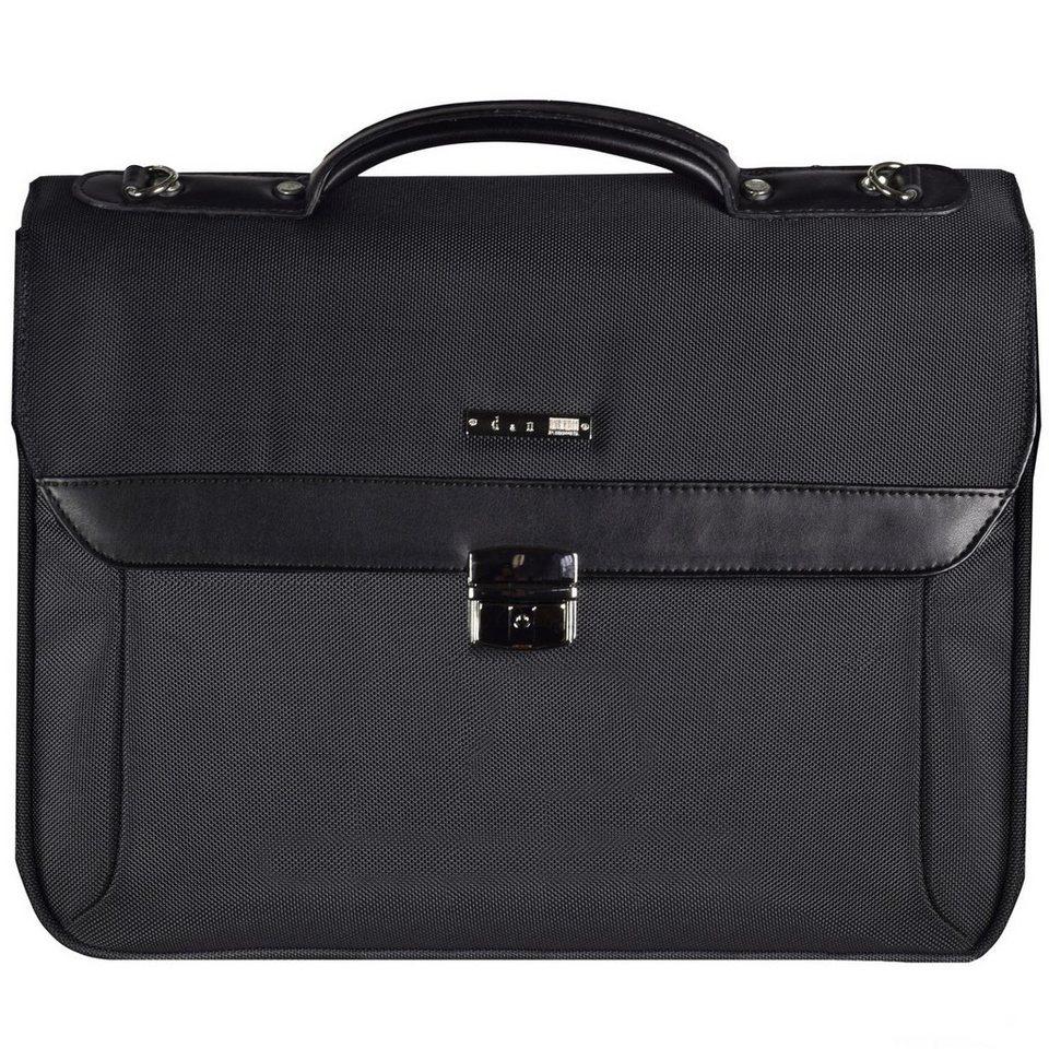 d & n d&n Basic Aktentasche 41 cm Laptopfach in schwarz
