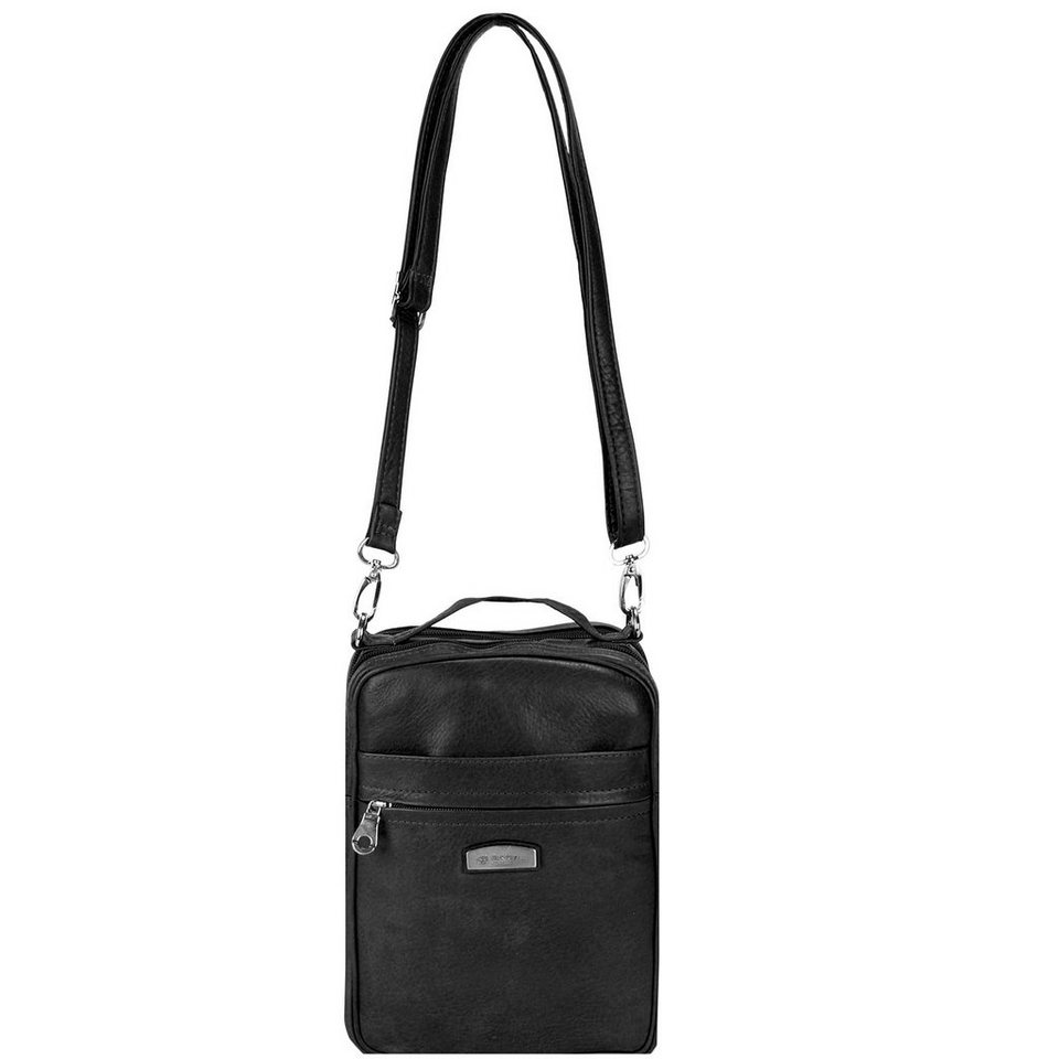 Harold's Country Herrentasche Leder 18 cm in schwarz