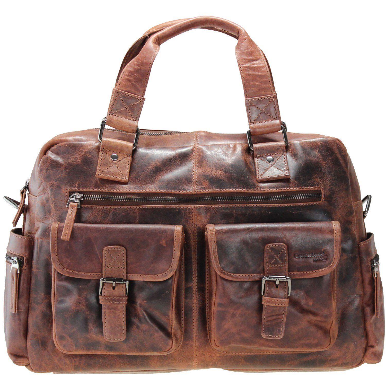 GREENLAND Montana Handtasche Leder 40 cm Laptopfach