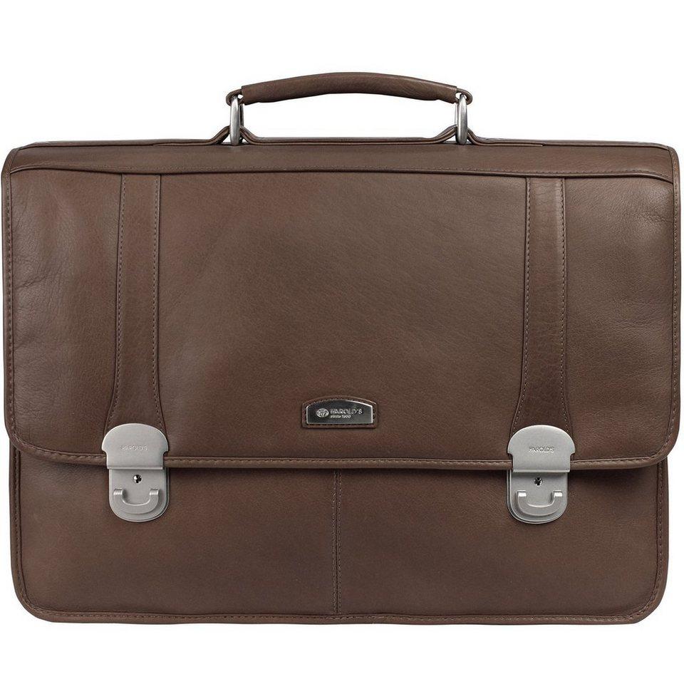Harold's Country Aktentasche Leder 42 cm Laptopfach in braun