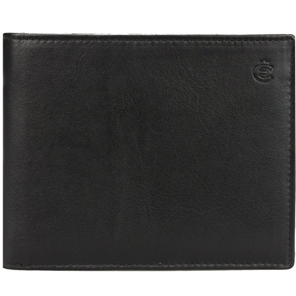 Esquire Eco Geldbörse Leder 12 cm in black