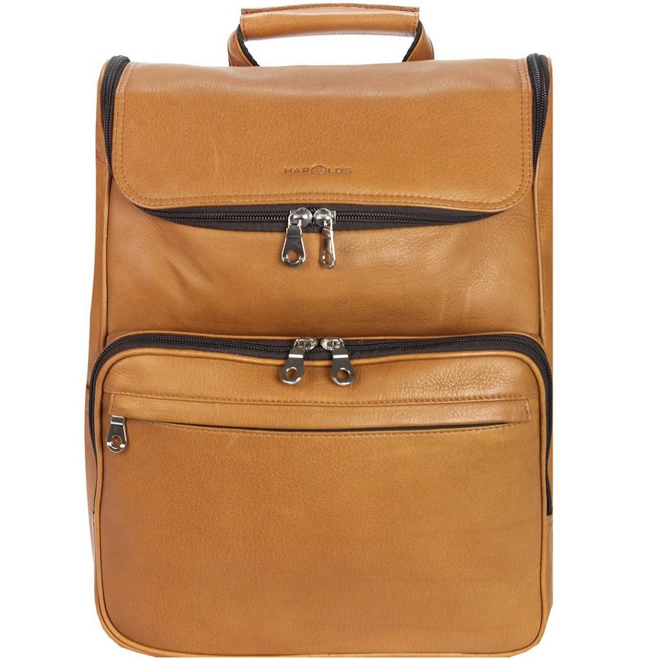 Harold's Country Rucksack Leder 38 cm Laptopfach in cognac