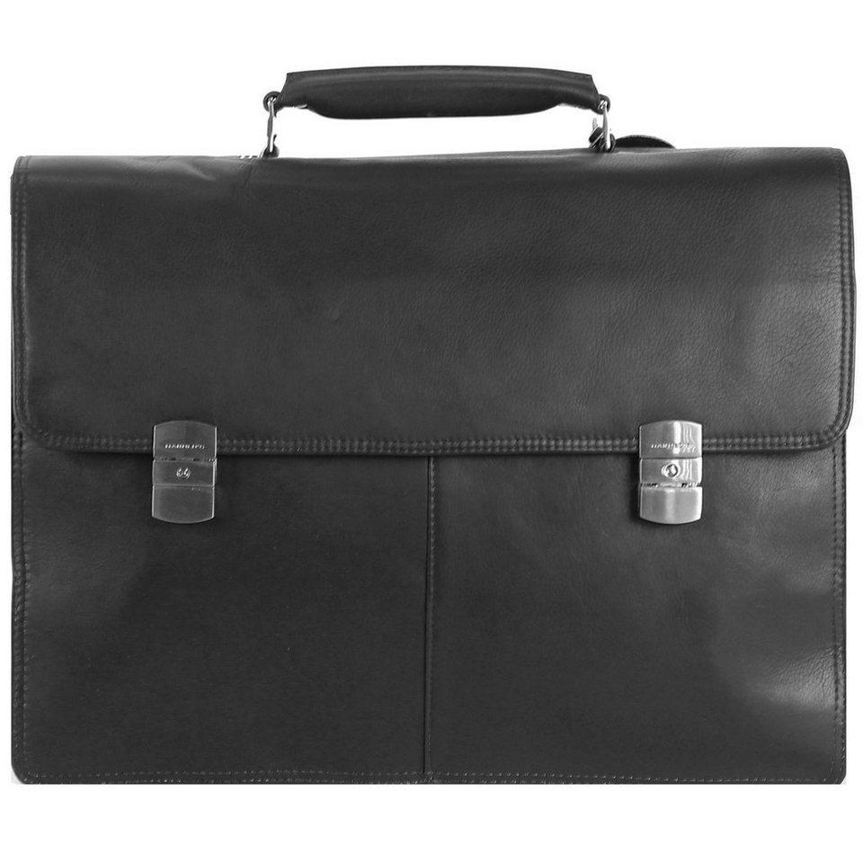 Harold's Harold's Country Aktentasche Leder 41 cm Laptopfach in schwarz