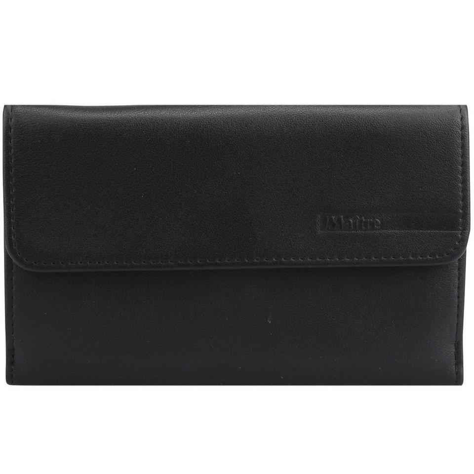 Maître Franco Geldbörse Leder 11.5 cm in black