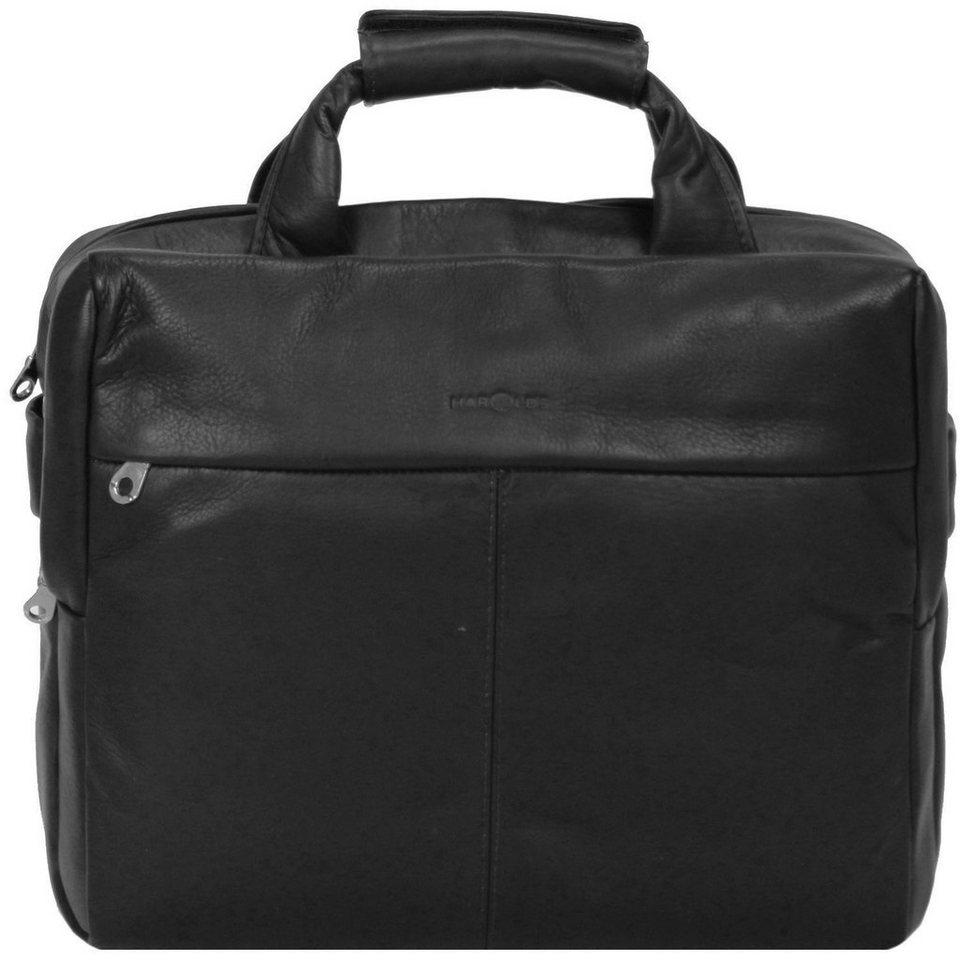Harold's Country Aktentasche Leder 38 cm Laptopfach in schwarz