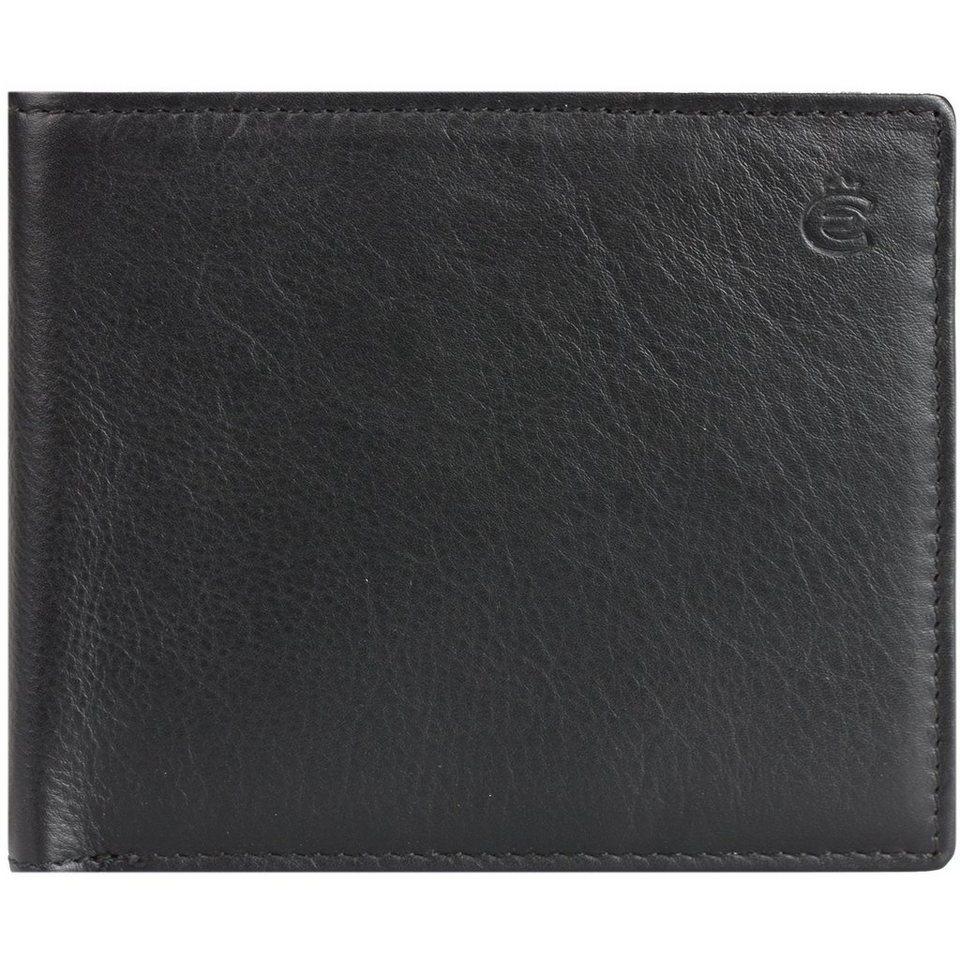Esquire Eco Geldbörse Leder 11 cm in black