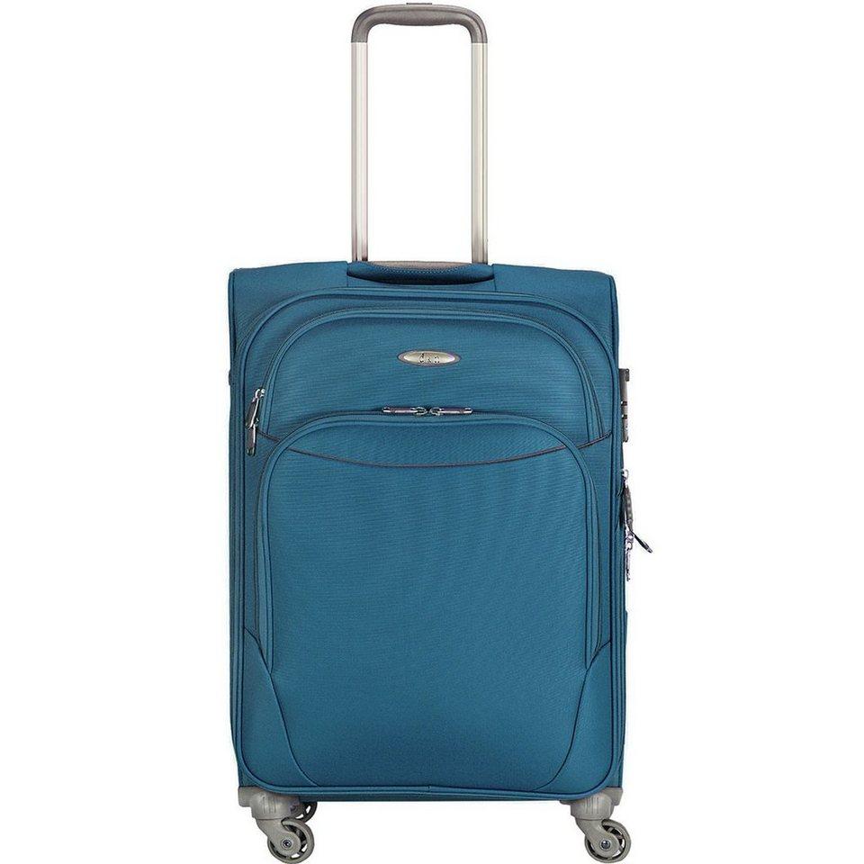 d & n d&n Travel Line 7404 4-Rollen Trolley 48 cm in blau