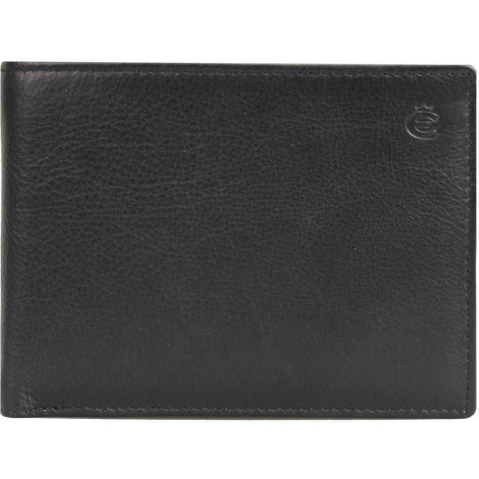 Esquire Esquire Eco Geldbörse Leder 12 cm in schwarz
