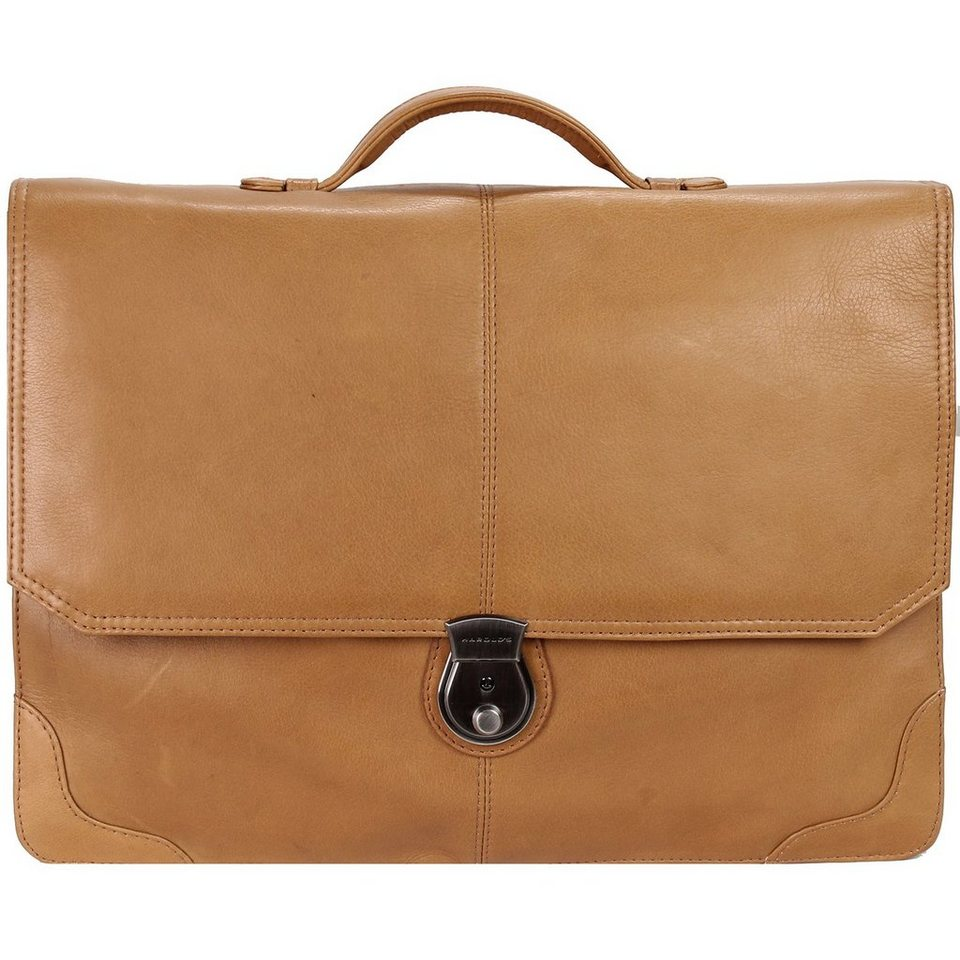 Harold's Country Aktentasche Leder 38 cm in cognac