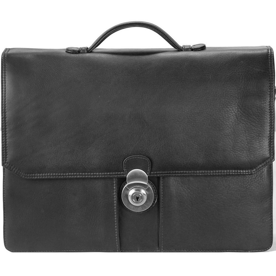 Harold's Country Aktentasche I Leder 38 cm in schwarz