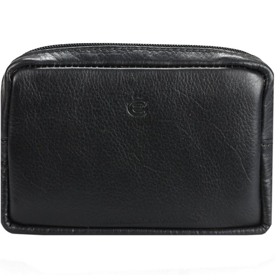 Esquire Esquire Eco Gürteltasche Leder 12,5 cm in black