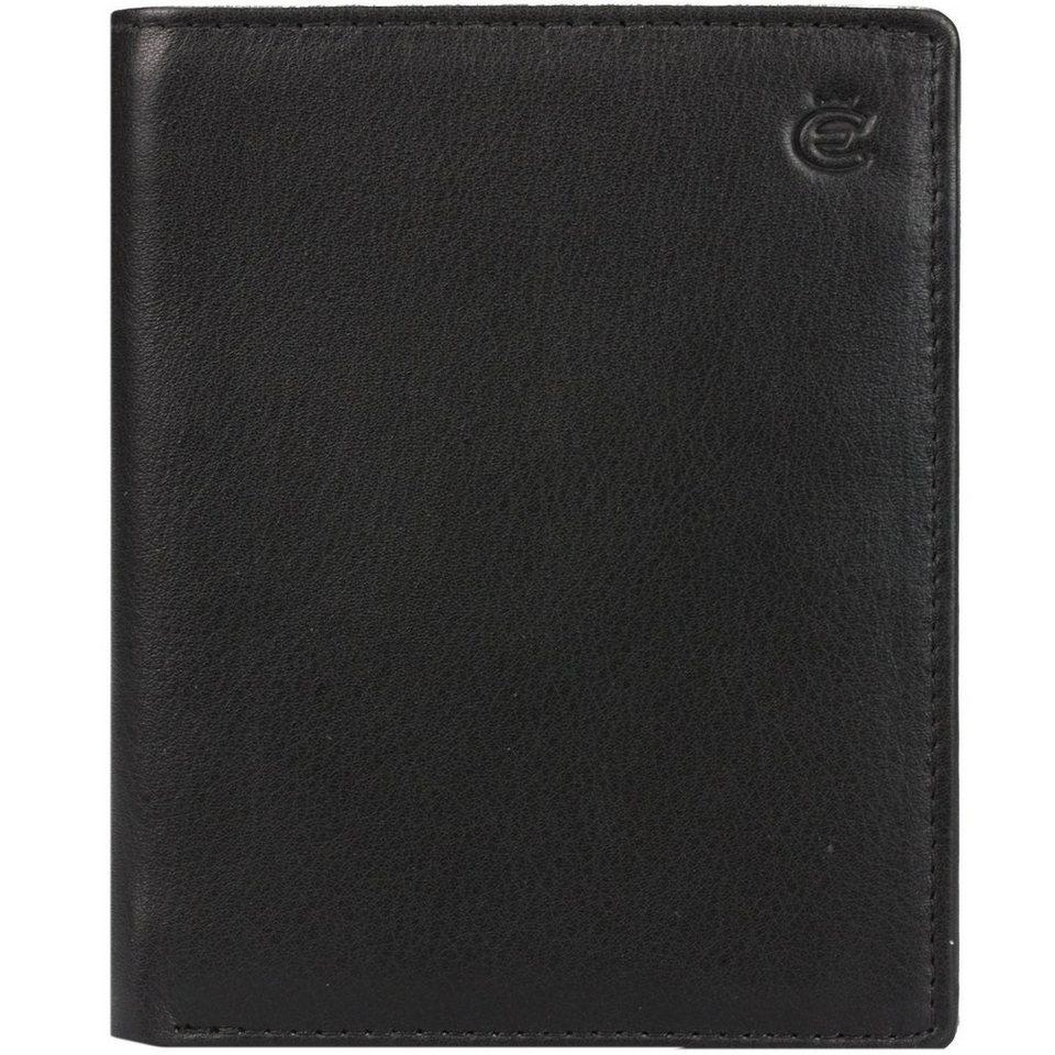 Esquire Eco Geldbörse Leder 9,5 cm in schwarz