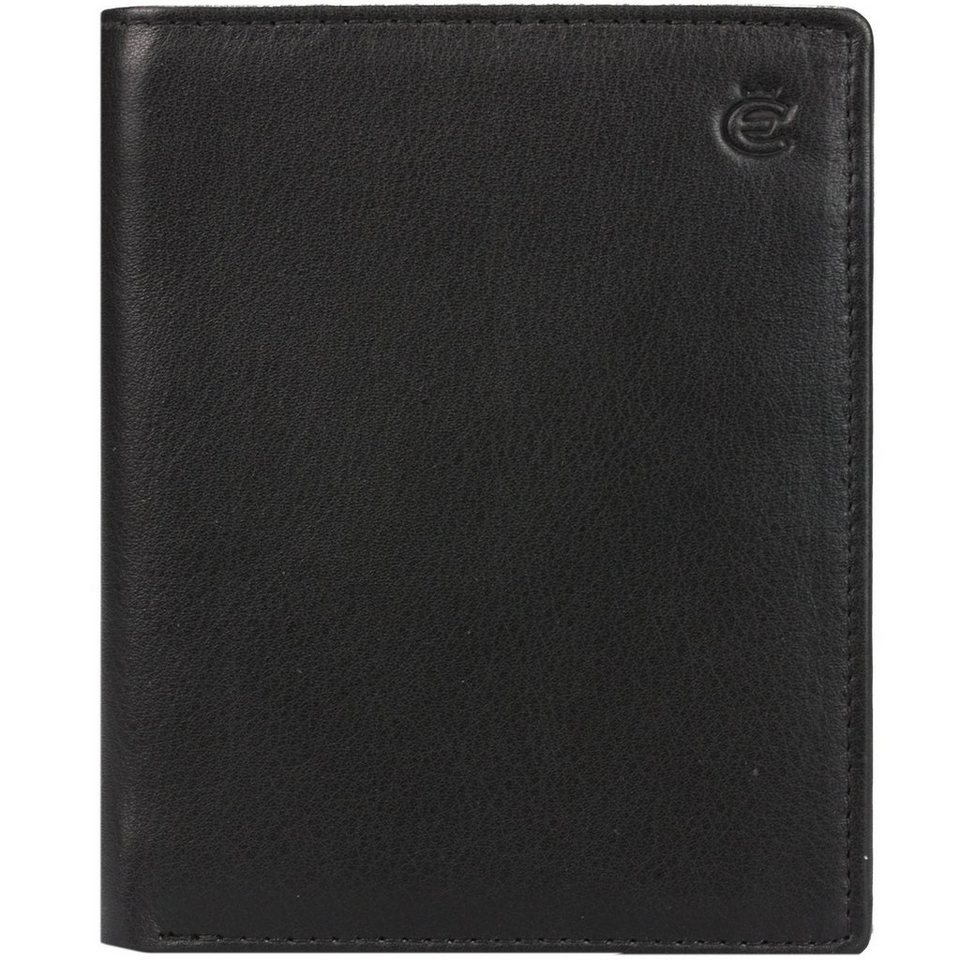 Esquire Esquire Eco Geldbörse Leder 9,5 cm in schwarz