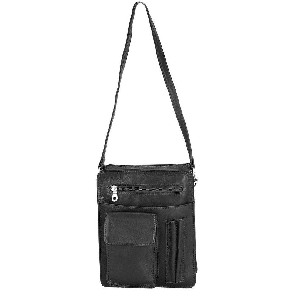 Harold's Country Herrentasche Leder 18 cm in schwarz