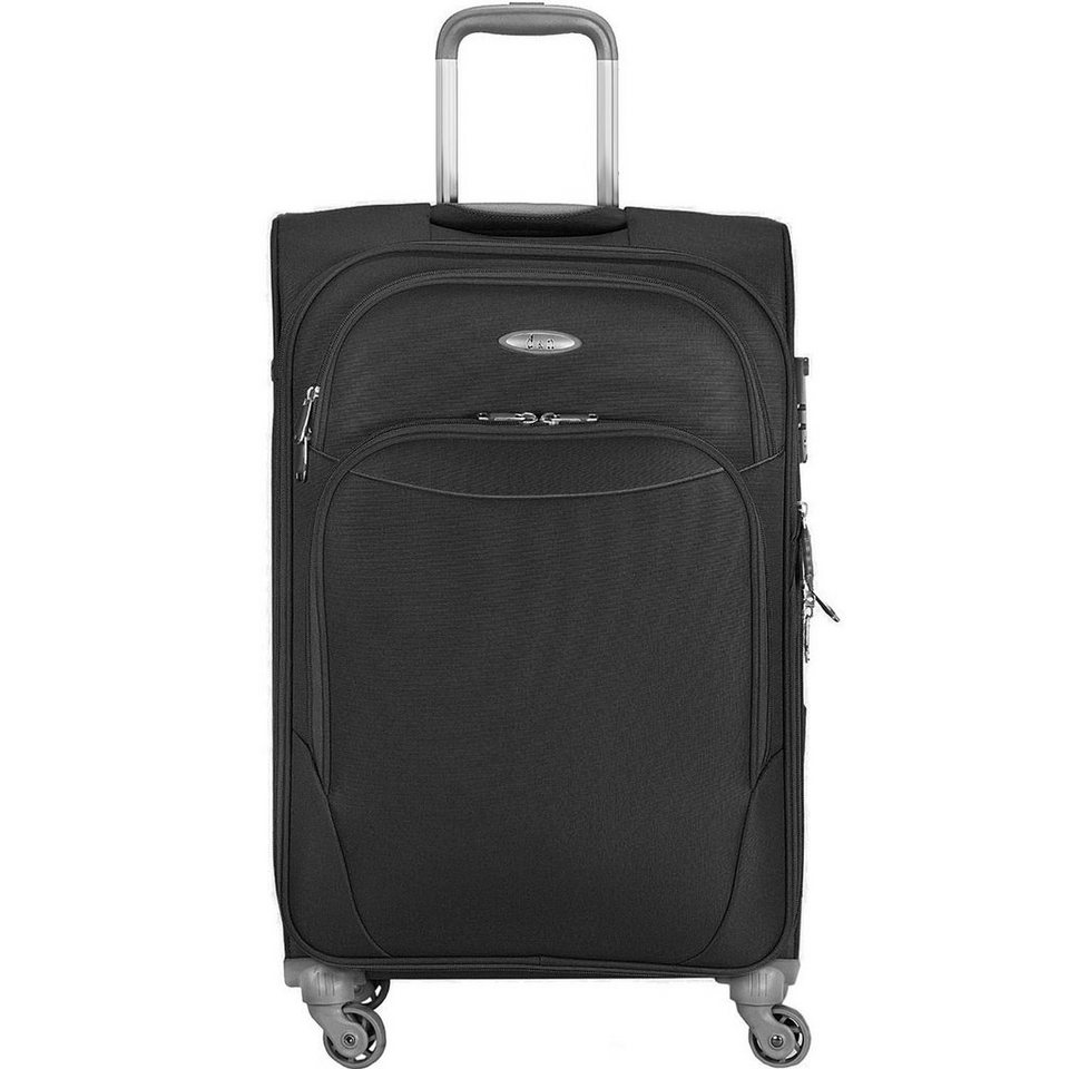 d & n Travel Line 7404 4-Rollen Trolley 60 cm in schwarz