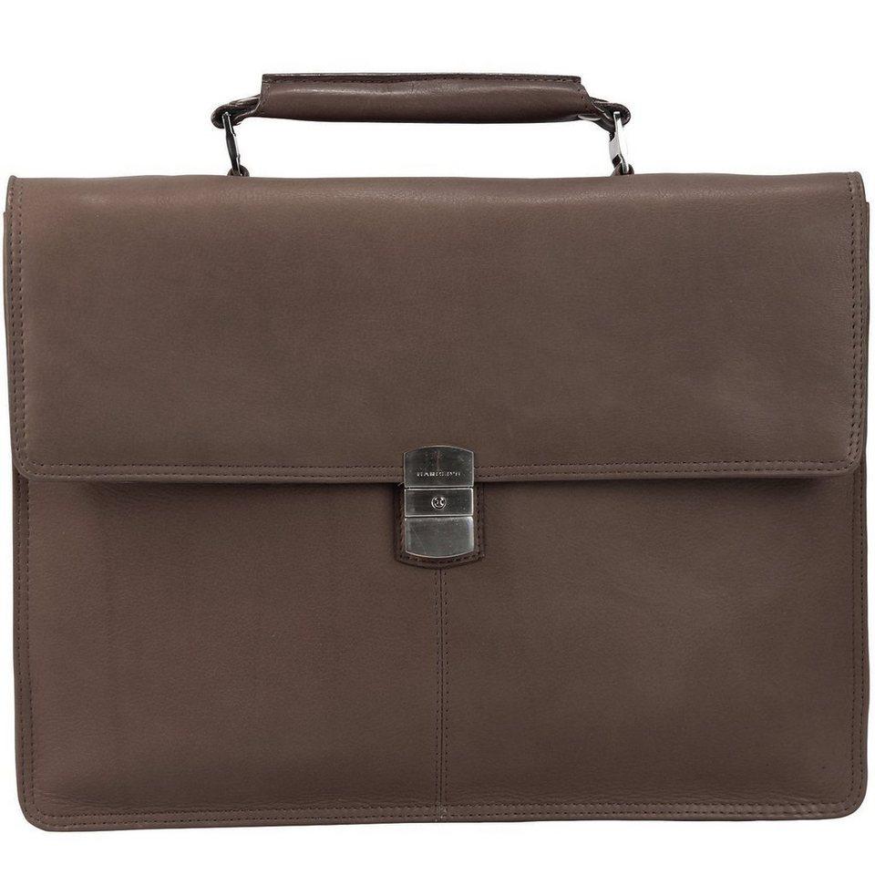 Harold's Country Aktentasche Leder 37 cm Laptopfach in braun