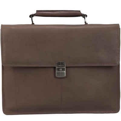Harold´s Country Aktentasche Leder 37 cm Laptopfach Sale Angebote Schwarzbach
