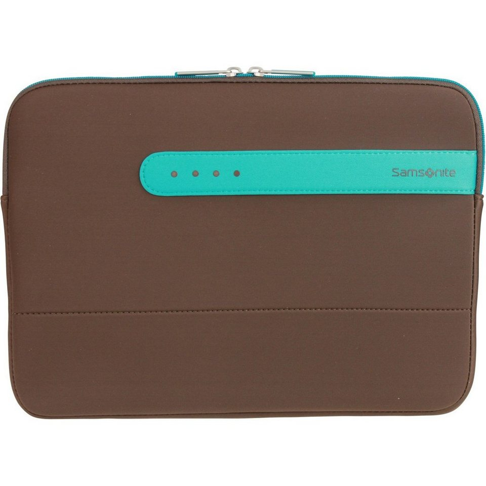 Samsonite Colorshield Laptophülle 30.2 cm in dark brown turquoise