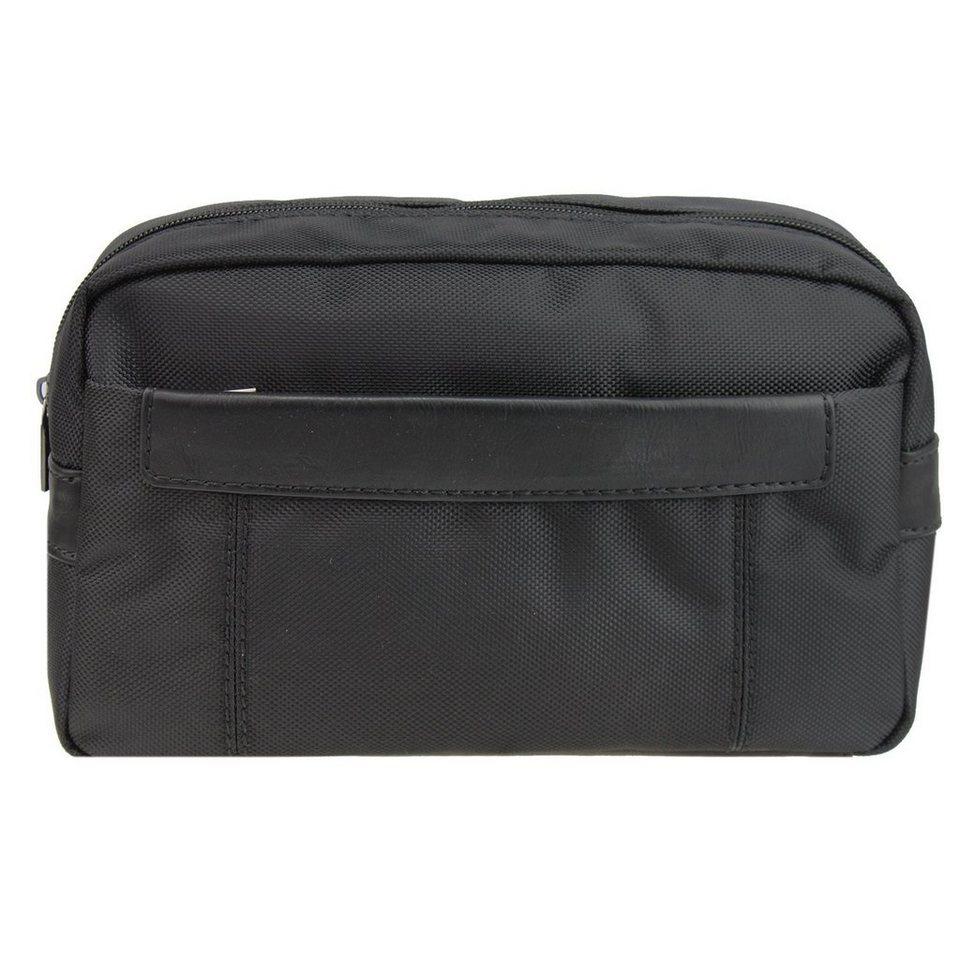 d & n Basic Line Kulturtasche 27 cm in schwarz