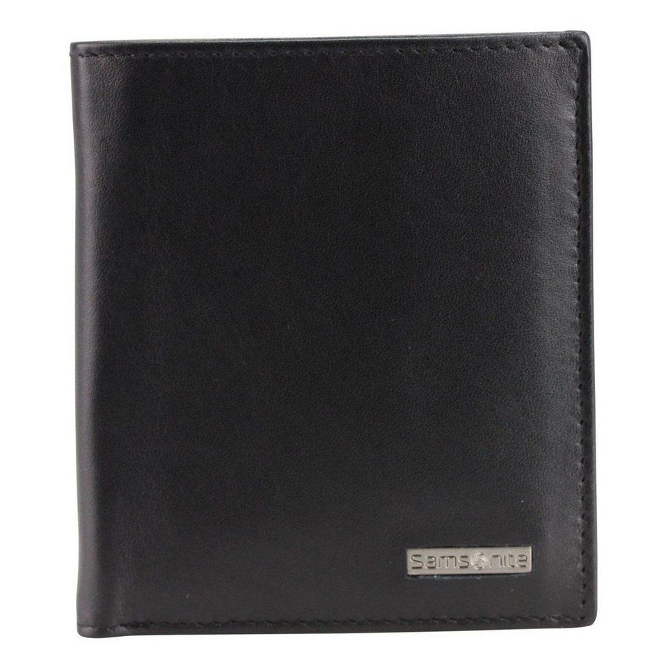 Samsonite S-Derry Geldbörse Leder 8.5 cm in black