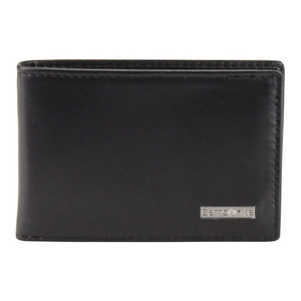 Samsonite S-Derry Geldbörse Leder 10.1 cm in black