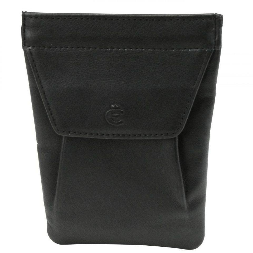 Esquire Esquire Logo Schlüsseletui Leder 8 cm in schwarz