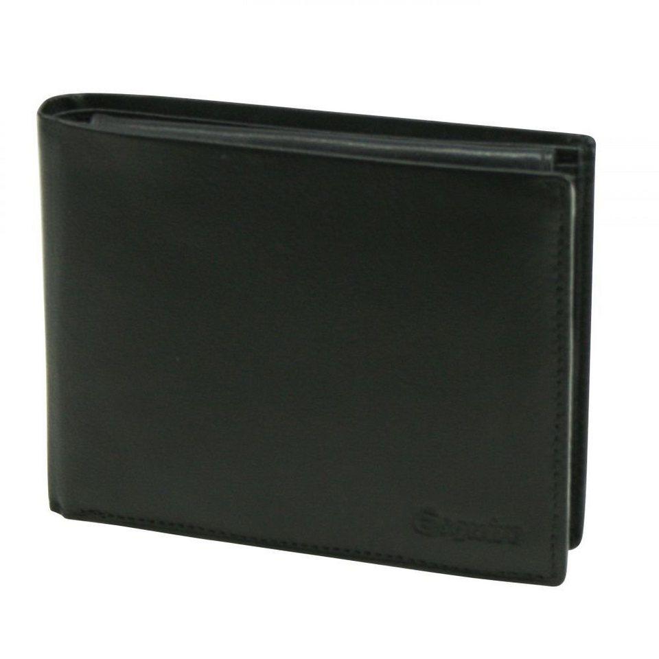 Esquire Silk Geldbörse Leder 12 cm in schwarz