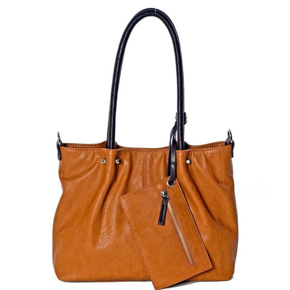 Maestro Maestro Surprise Handtasche Bag in Bag Shopper 35 cm in cognac-braun