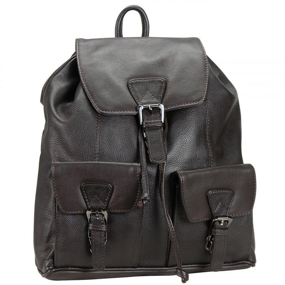 maestro maestro cosmopolitan damen city rucksack leder 34 cm in braun. Black Bedroom Furniture Sets. Home Design Ideas