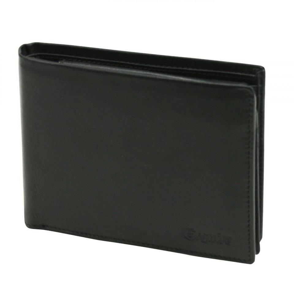 Esquire Esquire Silk Geldbörse Leder 12,5 cm in schwarz