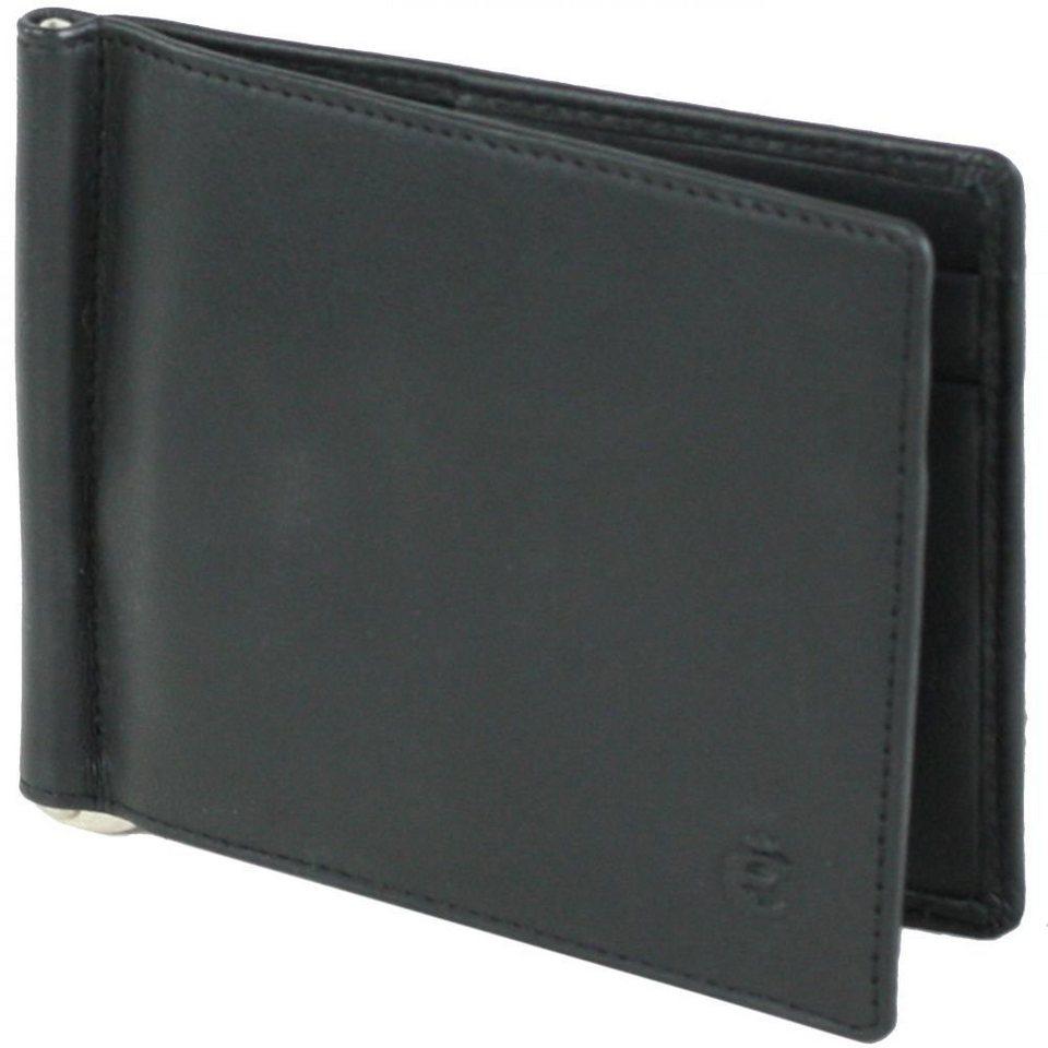 Esquire Logo Kreditkartenetui Leder 11 cm in schwarz