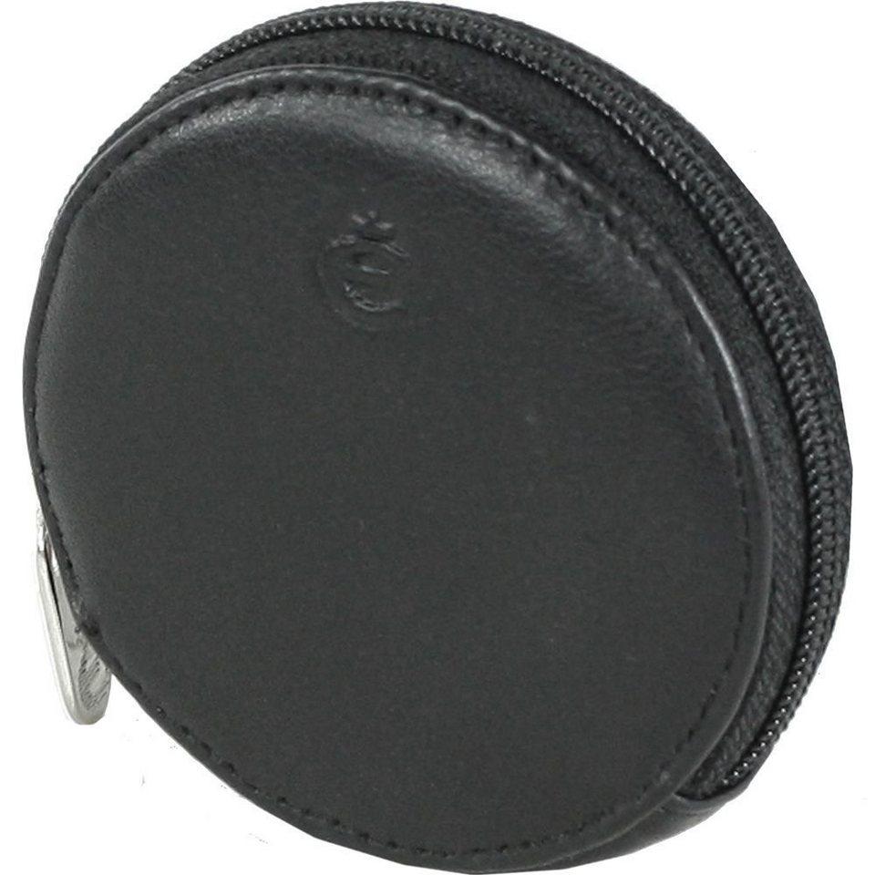 Esquire Logo Geldbörse Leder 7 cm in schwarz